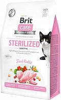 Сухий корм для стерилізованих кішок з чутливим травленням Brit Care Cat GF Sterilized Sensitive з, фото 1