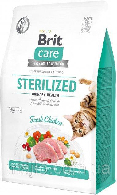 Сухий корм для стерилізованих котів Brit Care Cat GF Sterilized Urinary Health з куркою 0.4 кг