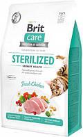 Сухий корм для стерилізованих котів Brit Care Cat GF Sterilized Urinary Health з куркою 0.4 кг, фото 1