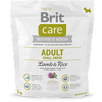 Сухой корм для взрослых собак мелких пород Brit Care Adult Small Breed Lamb & Rice 1 кг (8595602509904) 132708