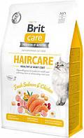 Сухой корм для кошек требующих ухода за кожей и шерстью Brit Care Cat GF Haircare Healthy & Shiny Coat с, фото 1