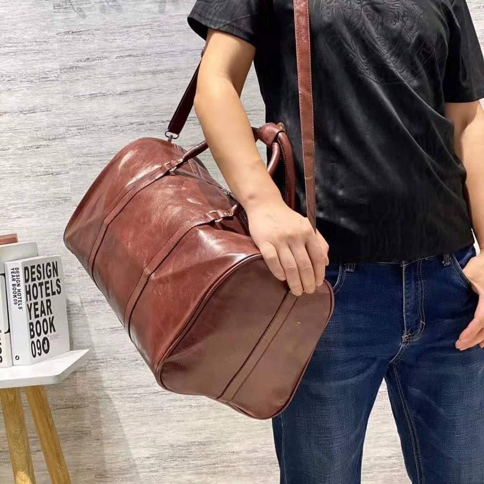 Дорожная сумка-саквояж в дорогу кожаная (кожа искусственная) СX11200
