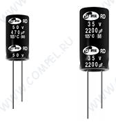 10uF 25V RD 5x11mm (ECAP 10/25V 0511 105C RD Samwha) (электролитический конденсатор)