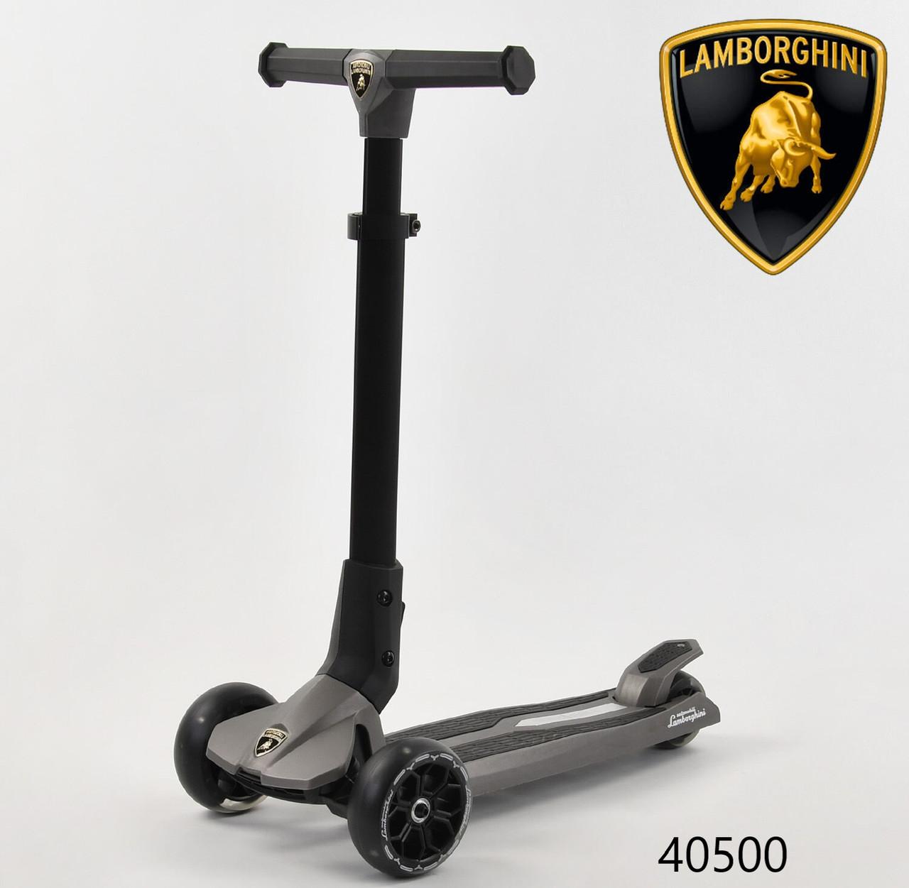 Самокат Lamborghini (ліцензія) триколісний дитячий LB-20300 складаний