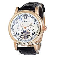 Часы A.Lange & Sohne Glashutte Gold/White Код: 1042-0007