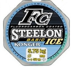 ЛЕСКА Konger STEELON FC BASIC ICE 0.10мм/50m