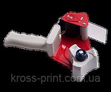 Диспенсер - пакувальний пістолет для клейкої стрічки (ширина до 50 мм, втулка 76,2 мм), червоний