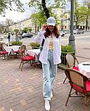 Рубашка женская льняная белый малина изумруд синий 42-46 48-52, фото 9