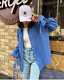 Рубашка женская льняная белый малина изумруд синий 42-46 48-52, фото 5
