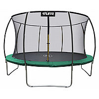 Спортивно-игровой Батут с внутренней защитной сеткой для улицы, нагрузка до 90 кг, 36 пружин, зеленый D=183см