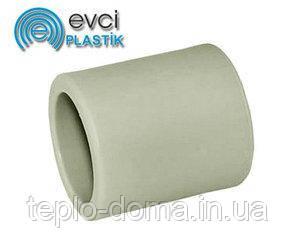 Муфта PP D50 соединительная evci plastik