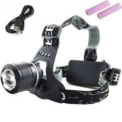 Налобний ліхтар Police Bl-2199 USB, (Оригінал)