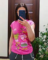 Молодежная подростковая футболка для девочки 9,10,11, 12, 13, 14, лет, фото 1