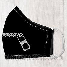 Маска защитная для лица, размер M-L Замок на рот