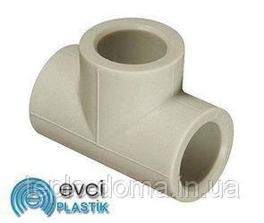 Трійник рівний PP-R D25 evci plastik