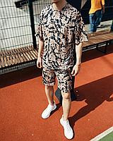 Літній спортивний костюм оверсайз МОККО | двухнить | футболка + шорти, фото 1