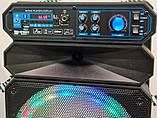 Акустична акумуляторна колонка з микрофоном12 дюймів (USB/FM/BT/LED) KIMISO QS-1208 BT, фото 3