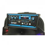 Акустическая аккумуляторная колонка 8 дюймов (USB/FM/BT/LED) KIMISO QS-803 BT, фото 3