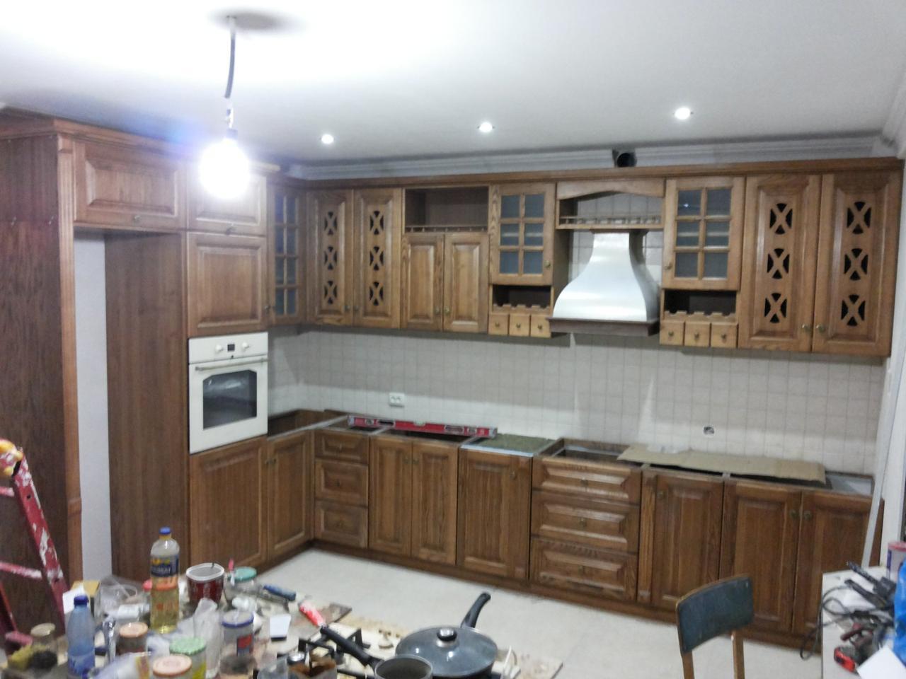 Кухня из натурального дерева под заказ