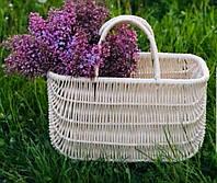 Плетенная сумка с выбеленной лозы