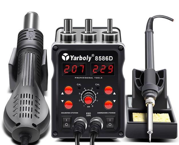 Паяльна станція Yarboly 8586D фен+паяльник