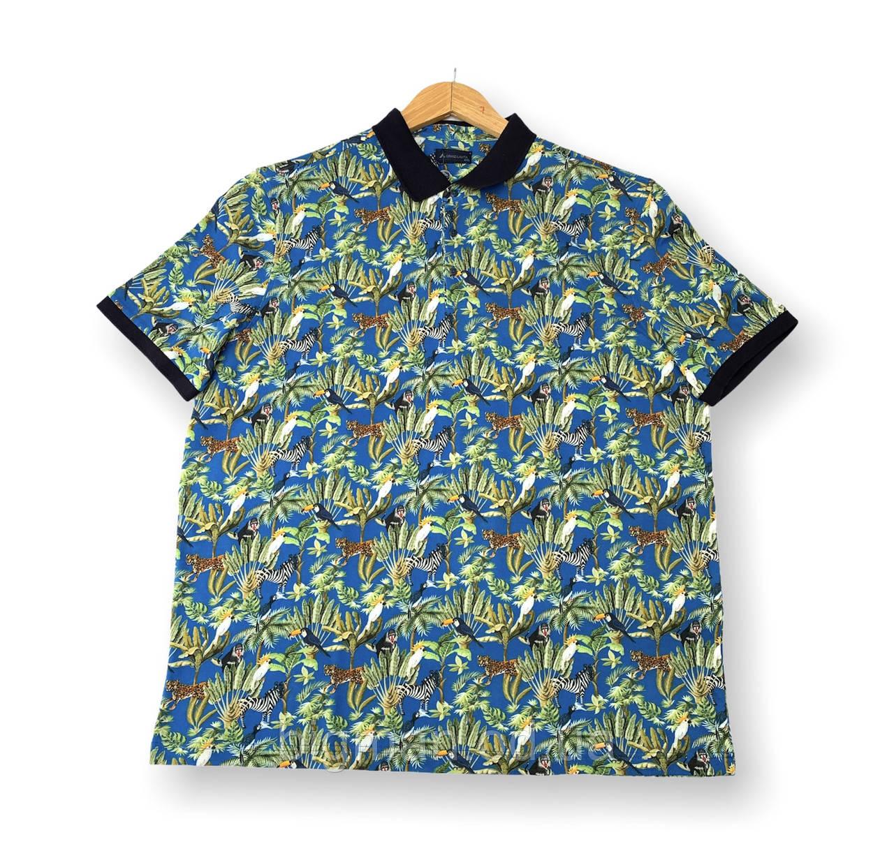 Мужская футболка с воротником поло тениска батал (большие размеры 5XL 6XL 7XL) Grand la Vita, Турция