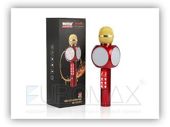 Микрофон караоке с подсветкой (цвета) WS1816 1 сорт 40шт 9575