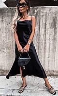 Жіноче ошатне плаття-комбінація на бретелях, фото 1