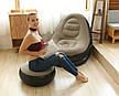 Надувне крісло з пуфом Air Sofa велюр, фото 3