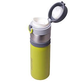 Термос-пляшка Kamille Зелений 400мл з нержавіючої сталі KM-2014
