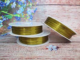 Флористична дріт 0,3 мм 50 м, колір золотистий