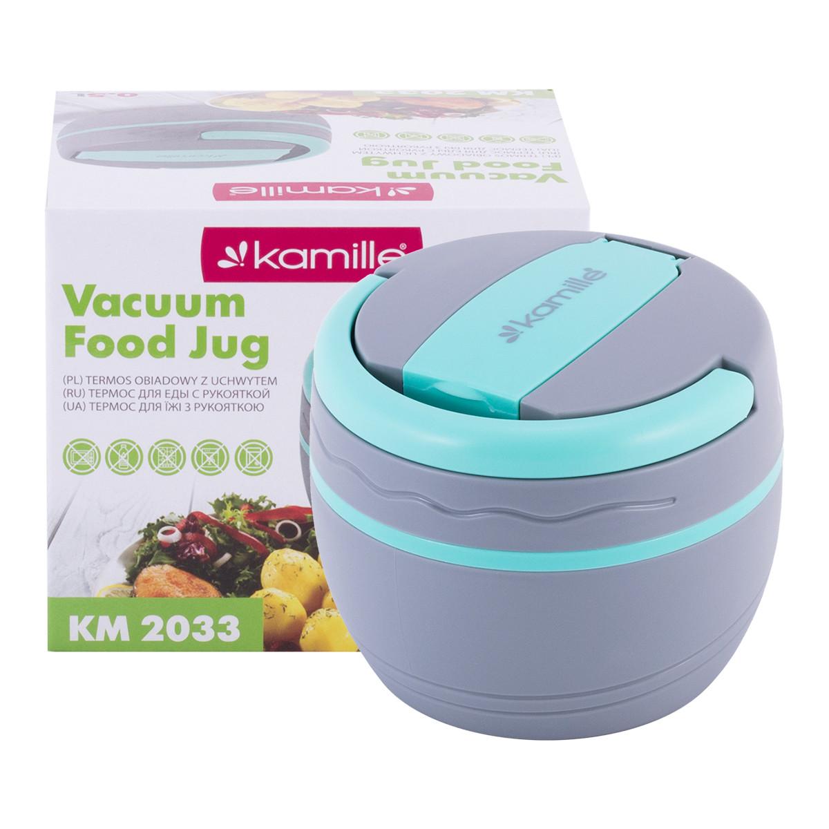Термос пищевой обеденный для супа Kamille 500мл пластиковый KM-2033