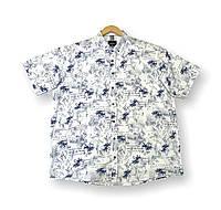 Чоловіча сорочка з коротким рукавом батальна біла лляна великі розміри (2XL 4XL) Туреччина Castelli, фото 1