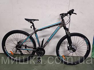 """Велосипед Crosser One-1 *18"""", колеса 26"""" гірський алюмінієвий гідравліка, сірий"""