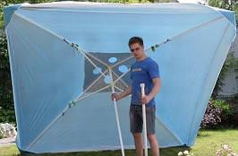 Зонт торговый 3х3 с клапаном, квадратный, 3х3 метра, с ветровым клапаном