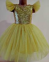 Золоте платье на выпускной для девочек