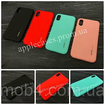 TPU чехол Smitt накладка на бампер для Apple iPhone XS (4 кольори)
