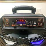 Акустична акумуляторна колонка 12 дюймів (USB/FM/BT/LED) KIMISO QS-1290, фото 2