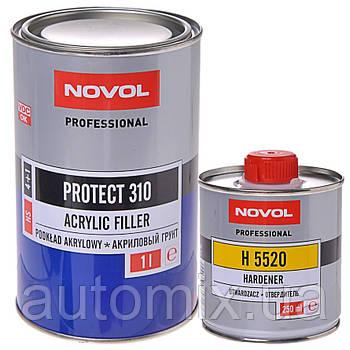 Акриловый грунт Novol PROTECT 310 HS 4+1 1л белый с отвердителем 0.25л