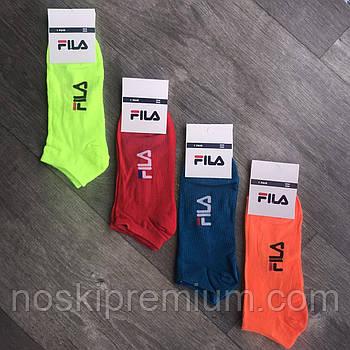 Носки мужские демисезонные спортивные хлопок Fila, Турция, размер 41-45, короткие, ассорти, 04574