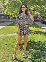Жіночий комбінезон з шортами з шифону Poliit 5253