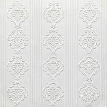 Декоративная 3D панель потолочно-стеновая самоклеющаяся УЗОР ОРНАМЕНТЫ БЕЛЫЙ 700х700х5мм (в упаковке 10 шт)