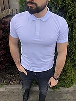 Белая мужская футболка-поло   Турция   100% хлопок
