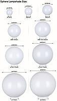 Світильник садово-парковий шар NF1801 φ250мм білий і адаптер Е27 IP44, фото 5