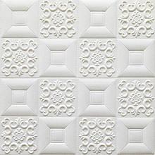 Декоративная 3D панель потолочно-стеновая самоклеющаяся ФИГУРЫ КВАДРАТЫ 700х700х5.5мм (в упаковке 10 шт)