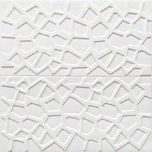 Декоративная 3D панель потолочно-стеновая самоклеющаяся ПАУТИНА БЕЛЫЙ 700х700х10мм (в упаковке 10 шт)