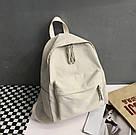 Рюкзак молодежный бежевый из плотного износостойкого холста., фото 2