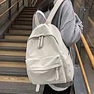 Рюкзак молодежный бежевый из плотного износостойкого холста., фото 6