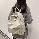 Рюкзак молодежный бежевый из плотного износостойкого холста., фото 7