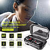 M15 TWS Bluetooth Стерео Динамік Active Шумозаглушення LED Дисплей Навушники з акумулятором 2000 мАч, фото 4